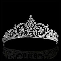 In Stock Elegant Alloy & Rhinestones Tiara