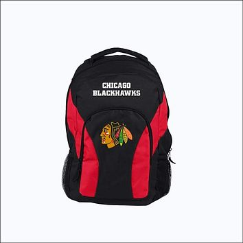 """Blackhawks OFFICIAL National Hockey League, """"""""Draft Day"""""""" 18""""""""H x 10"""""""" (12"""""""" Back) Backpack  by The Northwest Company"""