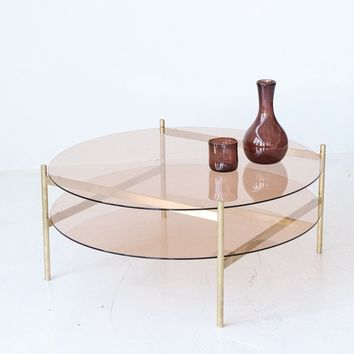 Yield Rose Glass and Brass Coffee Table – Spartan Shop