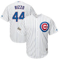 Men's Chicago Cubs Anthony Rizzo Majestic White 2017 Postseason Cool Base Player Jersey