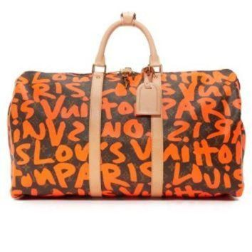 VONE54Q Louis Vuitton Sprouse Keepall Bag (Previously Owned)