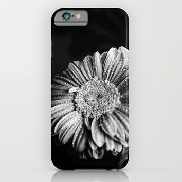 Gerbera black and white  iPhone & iPod Case by VanessaGF