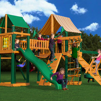Gorilla Playsets Pioneer Peak Supreme WG Wooden Swing Set