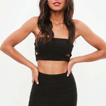 Missguided - Black Bandage Basic Mini Skirt