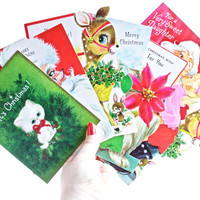 Vintage Christmas Card Lot - 1960s ,1970s Unused Deadstock Holiday Greeting Cards & Envelopes / Christmas Wishes