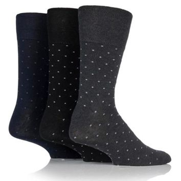 Non Binding Socks for Men or Women in Micro Dots