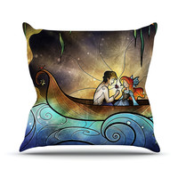 "Mandie Manzano ""Something About Her"" Mermaid Outdoor Throw Pillow"