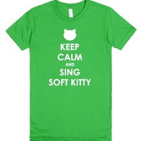 Keep Calm And Sing Soft Kitty-Female Grass T-Shirt