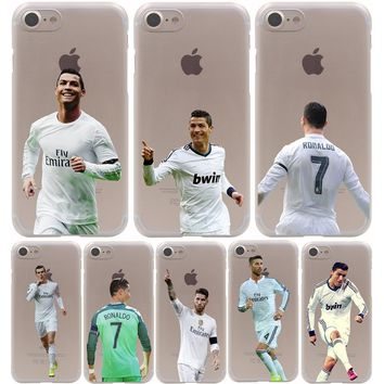 Cristiano Ronaldo Transparent iPhone Case for iPhone 7, 7 Plus, 6 6S Plus, 5 5S SE 5C