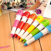 Emotional Pill Pen Kawaii Vitamin Retractable Ball Point Pen Great for Purses, Small space, note taking, school, writing, novelty collection