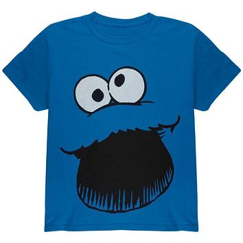 Sesame Street - Cookie Monster Face Youth Costume T-Shirt