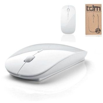 Tedim Ultra Slim Small Wireless Optical Mouse for Apple Mac Book Laptop - White