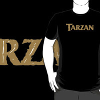#sc Tarzan logo movie black t-shirt