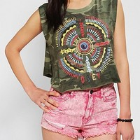 OBEY Sand Pearl Cropped Camo Muscle Tee