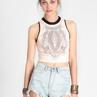 Kiss Goodbye Crop Top - $38.00 : ThreadSence, Women's Indie & Bohemian Clothing, Dresses, & Accessories