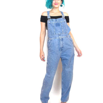 107a06fc 90s Tommy Hilfiger Denim Overalls Hip Hop Normcore Blue Jean Dungarees  Jumpsuit Overs
