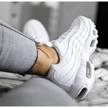 NIKE Air Max Stylish Women Men Running Sports Shoes Sneakers Pure White I-CSXY