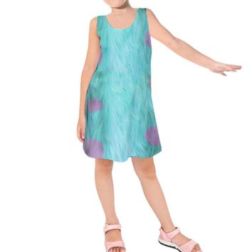Kid's Sulley Monsters Inc. Inspired Sleeveless Dress