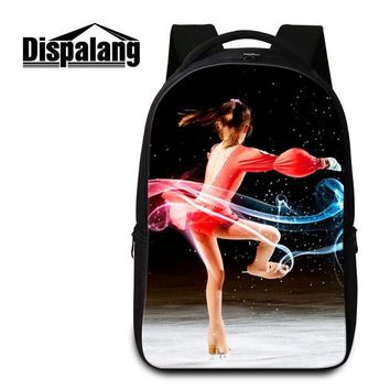 Cool Backpack school Dispalang 3D Printing Skating Cool Backpack For High School Students Men Business Laptop Backpacks Women Traveling Shoulder Bag AT_52_3