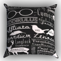 Harry Potter Magic Quotes Zippered Pillows  Covers 16x16, 18x18, 20x20 Inches