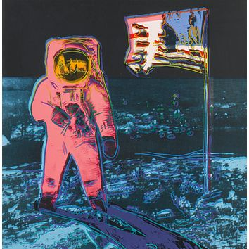 Vintage Moon Walk Print by Andy Warhol