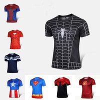 Superman/Batman/spider man/captain America /Hulk/Iron Man / t shirt men fitness shirts men t shirts