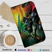 The Legend of Zelda Ocarina of Time Link Battle Leather Wallet iPhone 4/4S 5S/C 6/6S Plus 7  Samsung Galaxy S4 S5 S6 S7 NOTE 3 4 5  LG G2 G3 G4  MOTOROLA MOTO X X2 NEXUS 6  SONY Z3 Z4 MINI  HTC ONE X M7 M8 M9 CASE