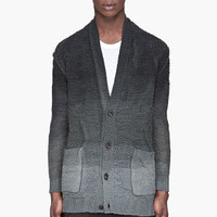 Silent By Damir Doma Grey Ombre Thick Knit Classic Cardigan for men | SSENSE