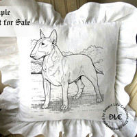 BULL TERRIER dc158 - 8x10 inch - Illustration Art for Transfers, Home Decor, Wall Decor, Arts &  Craft Projects - Instant Download