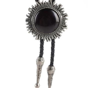 New Unisex Genuine Leather Bolo Accessories Tie Western Vintage Style Necklace