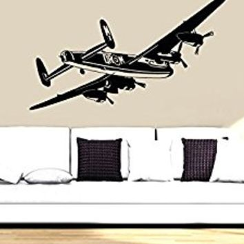 Wall Decal Vinyl Sticker Decals Art Decor Design War Plane Military Air Aviation Airplane Sky Attack Boys Bedroom Living Room Nursery(r763)