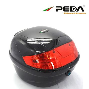PEDA Motorcycle Top Case e Bike box Electric Scooter Trunk ABS One Helmet Hard Tail Box Luggage case Baul Motocicleta Bauletto