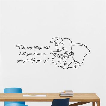 Neymar Dumbo Quote Vinyl Wall Decal The Very Sticker Baby Girl Boy Custom Kids Room Art Bedroom Nursery Poster Decor Mural M688