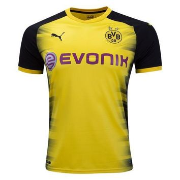 KUYOU Borussia Dortmund  17/18 European Home Men Soccer Jersey Personalized Name and Number