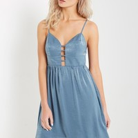 Blue Lucy Fit and Flare Dress