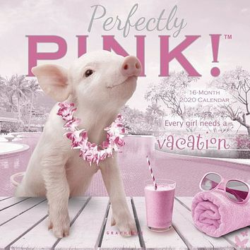Pigs In the Pink Mini Wall Calendar