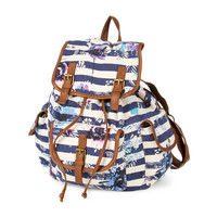 Stripes and Florals Backpack