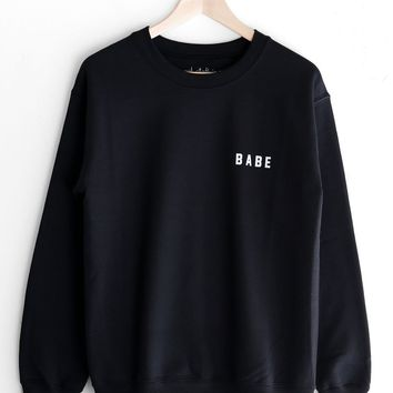 Babe Oversized Sweatshirt - Black