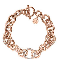 Michael Kors Pave Link Bracelet, Rose Golden