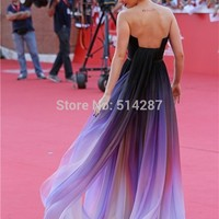Vestido De Festa Elie Saab 2014 Long Gradient Color Chiffon Evening Dresses Prom Party Dress -in Evening Dresses from Weddings & Events on Aliexpress.com | Alibaba Group