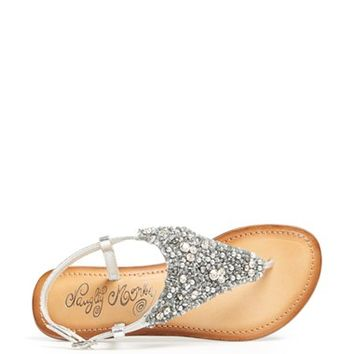 Naughty Monkey 'Goldie Locks' Beaded Thong Sandal