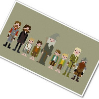 Pixel People - The Fellowship of the Ring - Cross-stitch PATTERN PDF