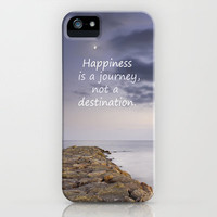 HAPPINESS IS A JOURNEY  NOT A DESTINATION iPhone Case by Guido Montañés | Society6