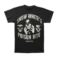 Snow White's Poison Bite Men's  Horror Crew T-shirt Black