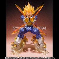 Anime Dragon Ball Z Super Saiyan Vegeta Battle State Final Flash PVC Action Figure Collectible Model Toy 15CM hwd