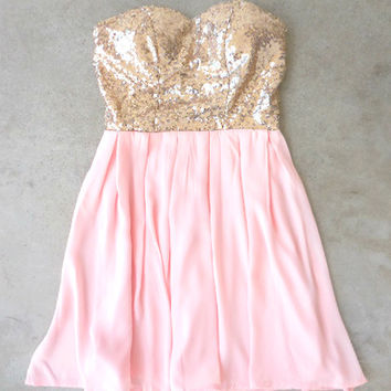 Sparkle & Pink Party Dress