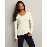 Eddie Bauer Favorite Long-Sleeve V-Neck T-Shirt
