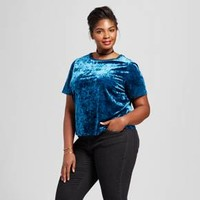 Women's Plus Size Crushed Velvet T-Shirt - Ava & Viv™