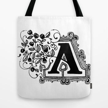 Initial A Tote Bag by cmbringle