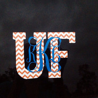 University of Florida Gators Monogrammed Personalized Car Decal Sticker